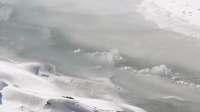 Närbild av is med dimma lager videofilmer