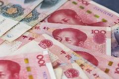 Närbild av Qian, kinesiskt folks valuta royaltyfri fotografi