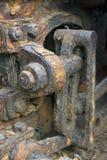 Närbild av rostiga kugghjul Royaltyfri Foto