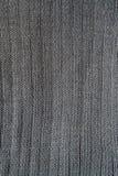 Närbild av sömlösa grå färger stucken tygtextur Fotografering för Bildbyråer