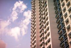 Närbild av Singapore den offentliga bostads- huslägenheten i Bukit Panjang Arkivfoto