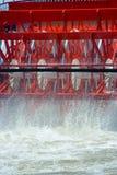 Närbild av skovlar på en paddleboat Royaltyfri Bild