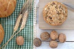 Närbild av traditionellt bröd Arkivbild