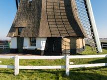 Närbild av väderkvarnen, Holland Arkivbild