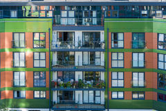 Närbild för bostads- byggnad Arkivfoton