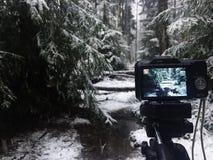 Närbild för Digital kamera Kamera för amatörer och professionell detaljer arkivfoto
