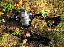 Närbild för Digital kamera Kamera för amatörer och professionell detaljer royaltyfri foto