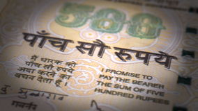 Närbild för indisk rupie Royaltyfria Bilder