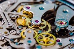 Närbild för klocka för tappningchronograph mekanisk Fotografering för Bildbyråer