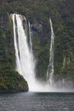 Närbild från Stirling Falls Fotografering för Bildbyråer