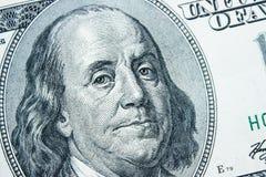 Närbild på Benjamin Franklin Arkivbild