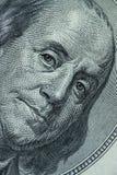 Närbild på Benjamin Franklin Arkivfoton