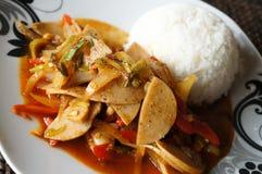 Närbild på en thai maträtt royaltyfria bilder