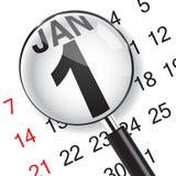 Närbild på 1 Januari royaltyfri illustrationer
