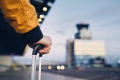Närbild som skjutas av bagage royaltyfria foton