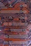 Närbild som skjutas av ett datormoderkort Arkivbild