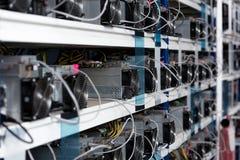 närbild som skjutas av strömförsörjningenheter på ethereumen arkivfoto