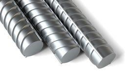 Närbild stålförstärkningar Arkivbild