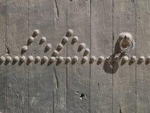 Närbildbild av forntida dörrar Royaltyfria Foton