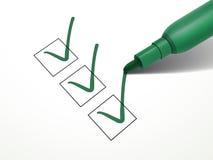 Närbildblick på den gröna pennan Arkivfoton