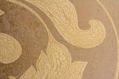 Närbilddetalj av dekorativa tapeter royaltyfria bilder
