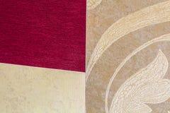 Närbilddetalj av dekorativa tapeter arkivfoto