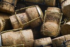 Champagne korkar Arkivfoton