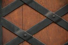 Närbilden avbildar av forntida dörrar. Royaltyfria Bilder