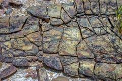 Närbildfotografi av sedimentär stentextur II arkivbild