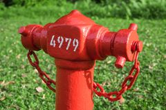 Närbildhuvud av brandposten med vinkeln 45degree Royaltyfri Fotografi
