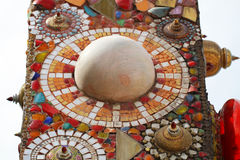 Närbildkonstdesign av färgrikt magiskt dekorera för sten Royaltyfri Foto