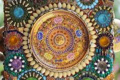 Närbildkonstdesign av färgrikt magiskt dekorera för sten Royaltyfria Foton