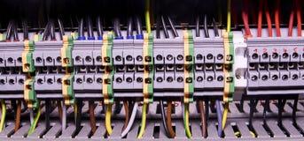 Närbildledningsnätkontaktdon eller slutligt kvarter för industriellt elektroniskt Slutligt kvarter Industriellt maktfall Royaltyfria Bilder