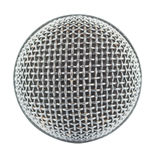 Närbildmikrofon som isoleras på vit bakgrund Royaltyfria Bilder