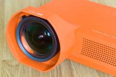 Närbildmultimediaprojektor Fotografering för Bildbyråer