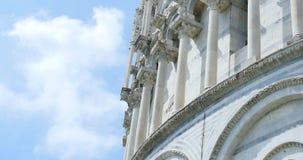 Närbildsikt av dopkapellet av St John av domkyrkan i den Pisa staden, Italien stock video