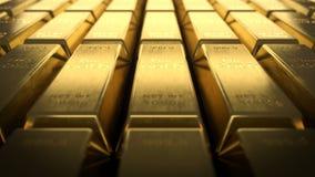 Närbildsikt av fina guld- stänger stock illustrationer