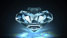Närbildsikt på den stora roterande diamanten Kretsa animering vektor illustrationer