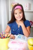 Närbildståenden av härligt barn skolar flickan Royaltyfria Foton