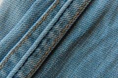 Närbildtextur av jeansbakgrund Arkivbild
