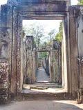 Närbildtextur av stenen som snider i templet av Angkor Wat i söm, skördar staden, Cambodja i 2012, 9th December arkivfoto