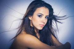 Närd skönhetkvinna arkivbild