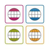 Näringsliv - översikt utformade symbolen - redigerbar slaglängd - vektorillustration - som isoleras på vit bakgrund stock illustrationer