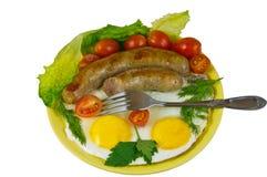 Näringsrik smaklig frukost Royaltyfri Fotografi