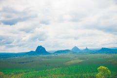 Närliggande Brisbane för glashusberg stad i Queensland, Australien Australien är en kontinent som lokaliseras i den södra delen a royaltyfri foto