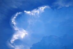 närmande sig främre storm Arkivbilder