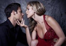 närmande sig kyss till Fotografering för Bildbyråer
