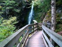 närmande sig vattenfall royaltyfri fotografi