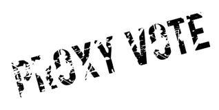 Närståenden röstar den rubber stämpeln Arkivbilder
