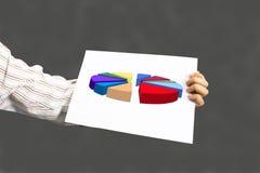 Närvarande aktiemarknadgrafer och diagram Arkivbild